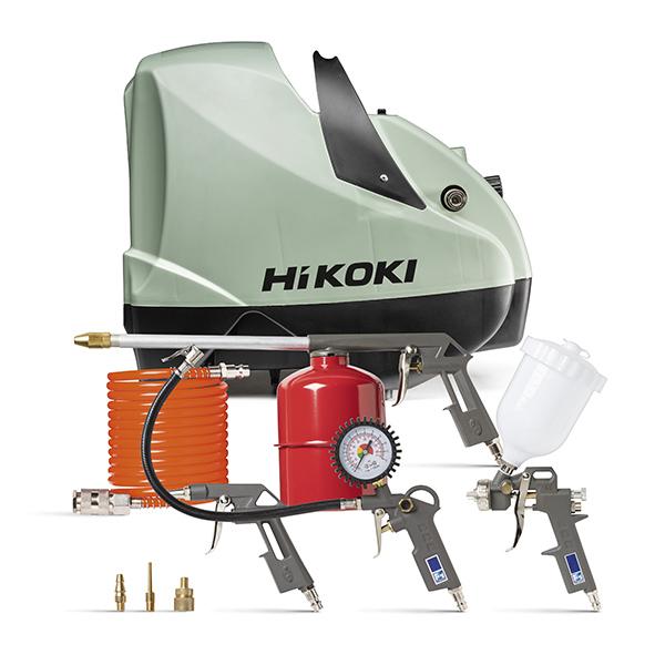 Compresseur avec jeu d'accessoires (8 pièces) - 160 L/min. / 8 bar