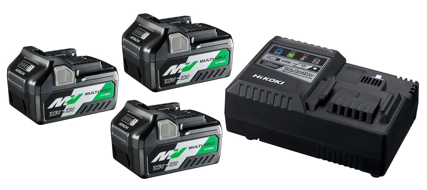 BoosterPack Multi-Volt - 3 x 5Ah 18V / 2,5Ah 36V + chargeur UC18YSL3